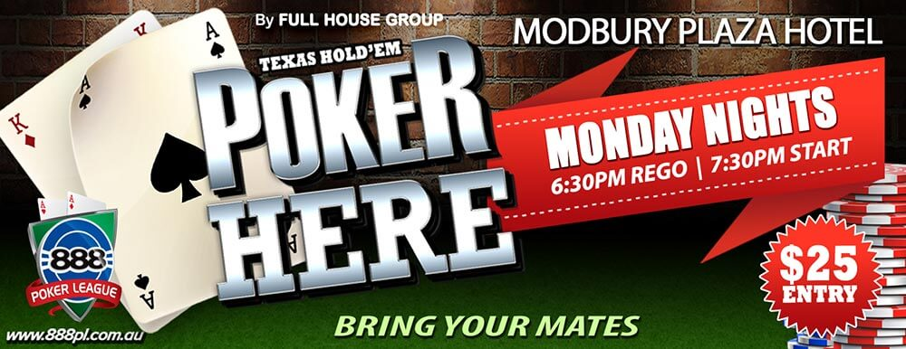 Poker Night Modbury Plaza Hotel